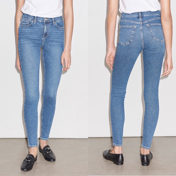 Top shop Moto Jamie high rise skinny blue jeans